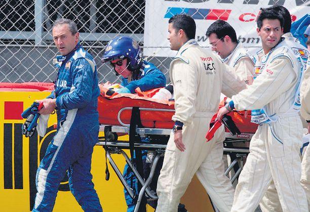 Heikki Kovalainen rysäytti vakavan näköisesti rengasvalleihin Barcelonan GP:ssä huhtikuun lopussa.