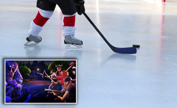 Kiekko-Espoon junioreissa pyritään yhdistämään Fortnite ja jääkiekko.
