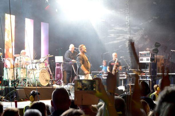 Tangokuningas oli Iskelmäkesä-festivaalin perjantai-illan viimeinen esiintyjä.