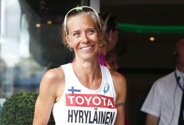 Anne-Mari Hyryläinen on EM-mitalitoivo Berliinissä.