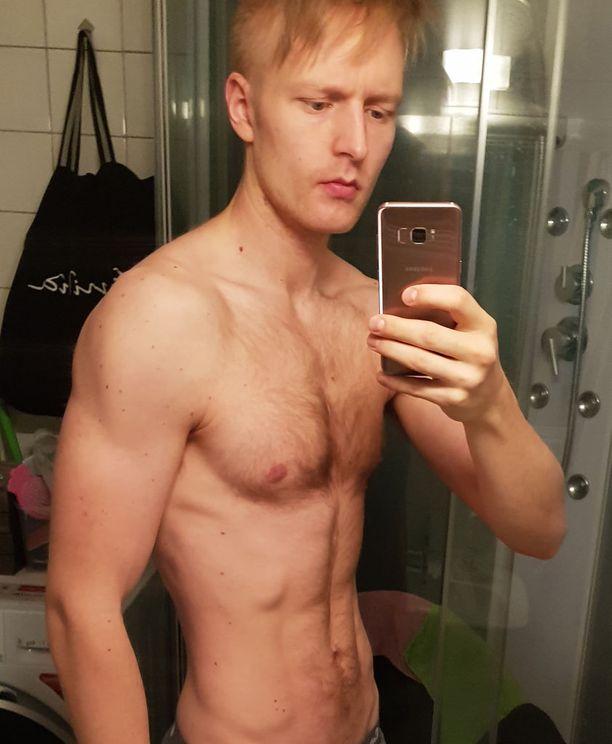 Olli Käyhkö maaliskuussa 2018. Painoa 71,8 kiloa, ja rasvaprosentti 8,9.