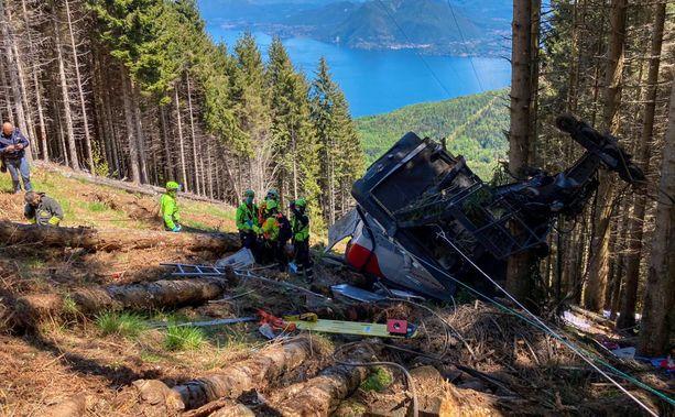 Järkyttävä onnettomuus tapahtui Italian Maggiorejärven kupeessa.