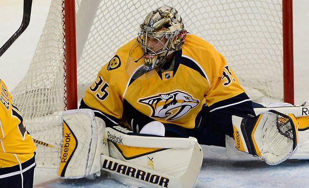 Pekka Rinne on alkukauden perusteella vahva suosikki NHL:n parhaaksi maalivahdiksi.