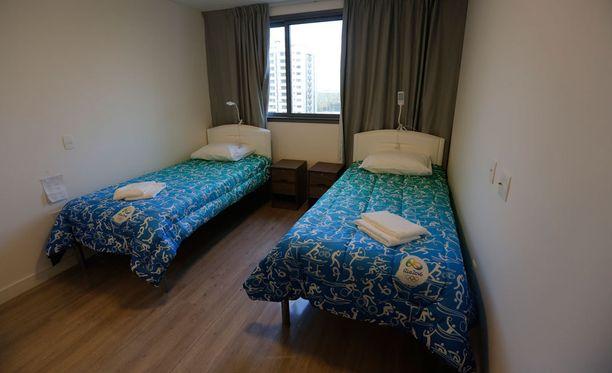 Tältä näyttää yksi Rion kisakylän huoneista.