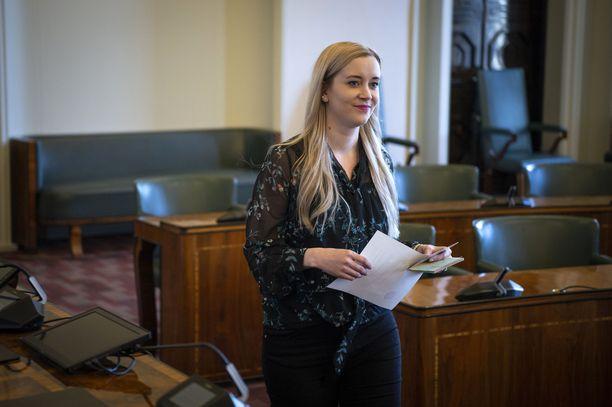 Sofia Virta (vihr) nousi keväällä eduskuntaan.