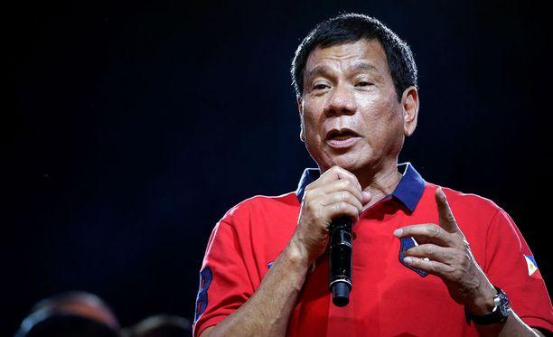 Duterte ei tunne armoa rikollisia kohtaan.