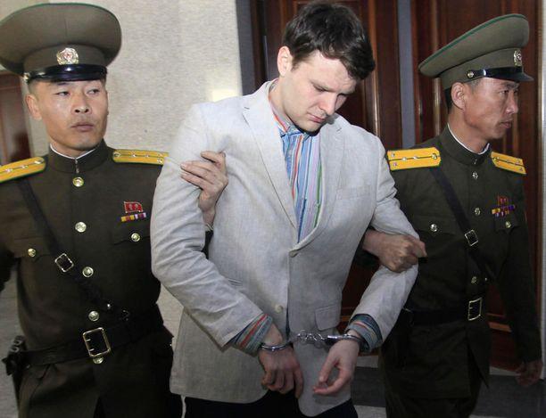 Otto Warmbier oli yli vuoden vangittuna Pohjois-Koreassa.