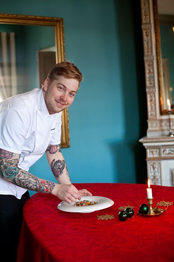 Top Chef -ohjelman voittanut Teemu Laurell kehottaa valitsemaan paistamiseen joko rypsiöljyn tai kirkastetun voin.