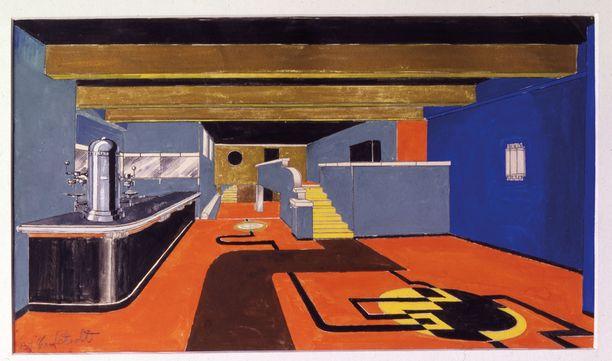 Birger Carlstedt suunnitteli 1929 Unioninkatu 24:ssä avatun ravintola Chat Dorén äärimodernin sisustuksen.