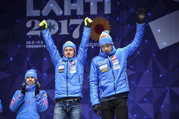 Iivo Niskanen oli podiumilla se vakavampi osapuoli.