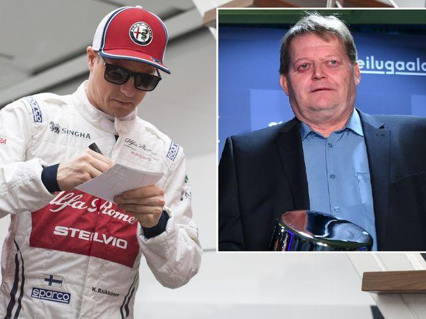 Kimi Räikkönen ja Seppo Räty ovat olleet siinä suhteessa samanlaisia, että kommenttien antaminen ei ole aina jaksanut kiinnostaa.