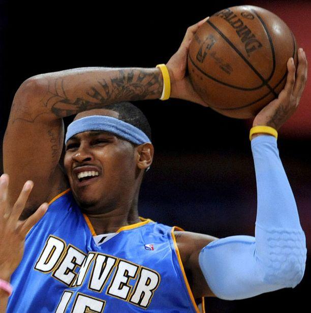 Denverin Carmelo Anthonylle osui hurja putki.