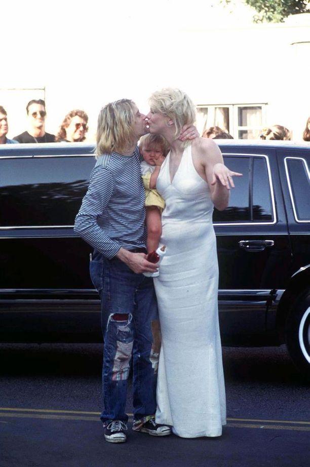 Grunge-tyylin ikoni Kurt Cobain ja Courtney Love
