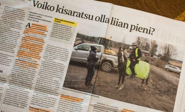 Ratsukko kilpaili 62 kilometrin luokassa tullen hylätyksi. Asiasta uutisoi ensimmäisenä Hevosurheilu-lehti.