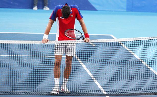 Novak Djokovic oli suunniltaan.
