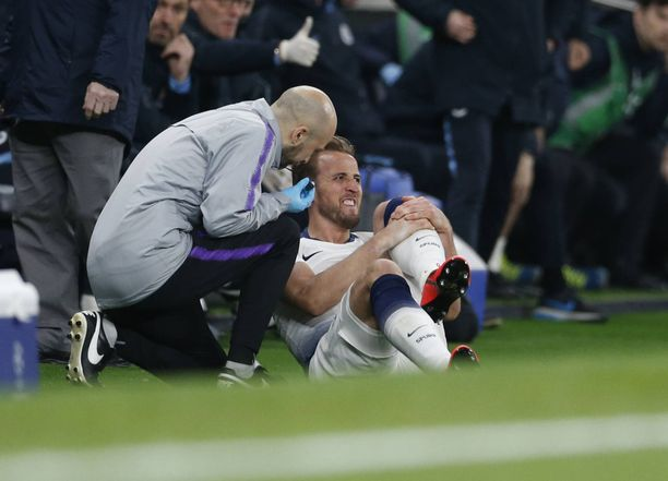 Harry Kanen nilkka vääntyi Mestarien liigan ottelussa Manchester Cityä vastaan.