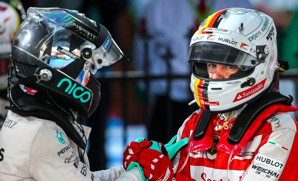 Nico Rosberg ja Sebastian Vettel nappasivat kauden avauskisasta sijat 2 ja 3.