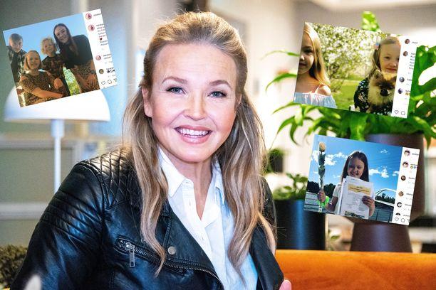Muun muassa laulaja Marita Taavitsainen jakoi kuvan lapsistaan kesäloman kunniaksi.