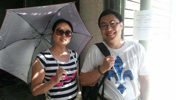 Kiinalaiset Jia Liu ja Bin Ma eivät olleet huomanneet kriisin vaikutuksia lomallaan.