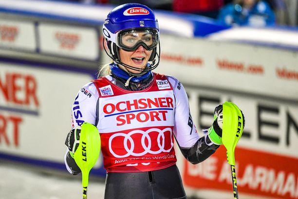 Mikaela Shiffrin laski voittoon Levin pujottelukisassa.