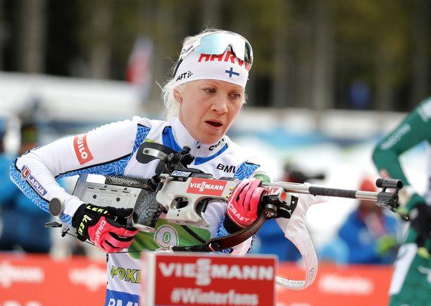 Kaisa Mäkäräinen otti lauantaina upean voiton Pokljukan pikakisasta.