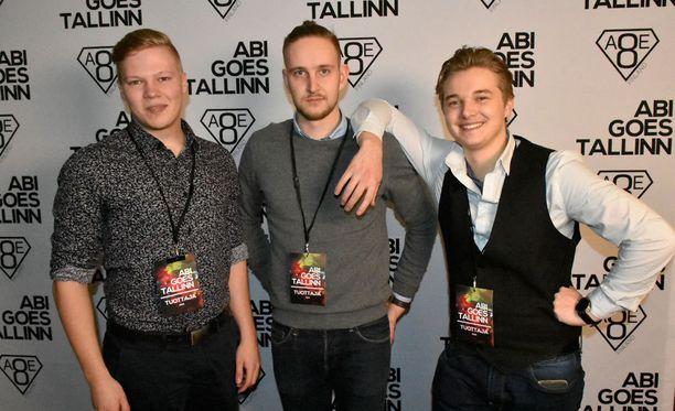 Tommi Pura, Miska Sulander ja Konsta Leskelä kehittivät aivan uudenlaisen abimatkan nuorten tarpeita kuunnellen.