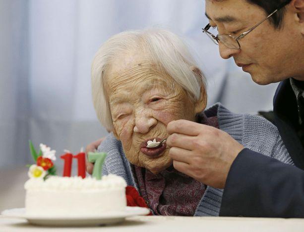 Misao Okawa täytti 117 vuotta maaliskuun 5. päivänä.