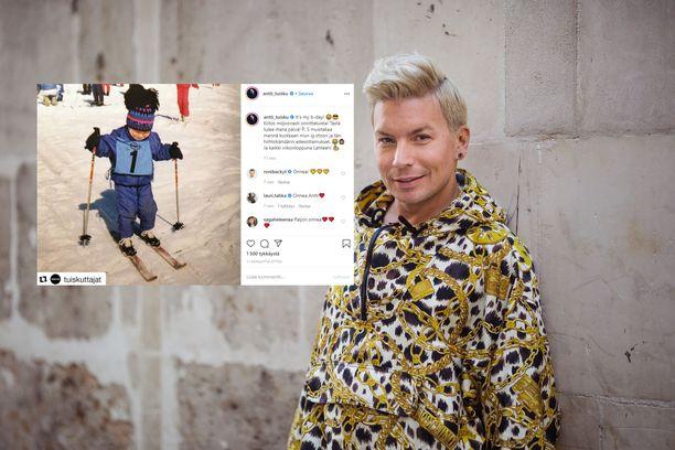 Antti Tuisku juhlii syntymäpäiviään.