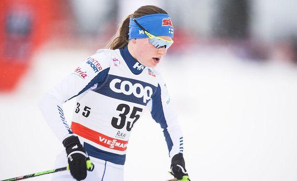 Johanna Matintalo kukisti Skandinavia cupissa muun muassa Charlotte Kallan, joka oli sunnuntaina Planicassa kakkonen.