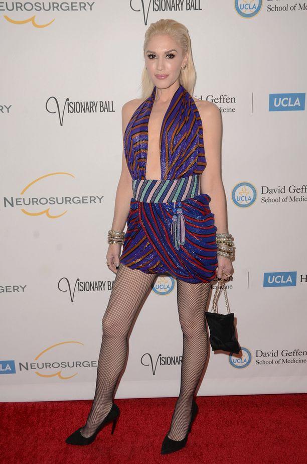 Gwen Stefani jaksoi hymyillä tuoreesta erostaan huolimatta.