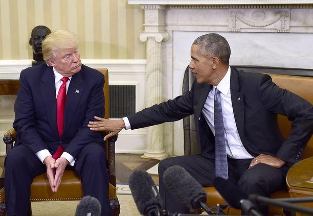 Donald Trump ja Barack Obama tapasivat marraskuussa presidentinvaalien jälkeen.