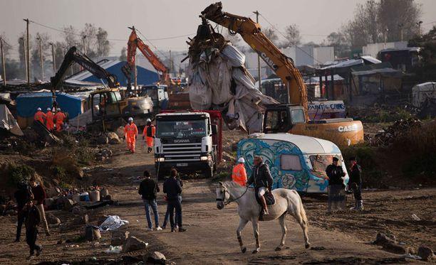 Calais'n pakolaisleirin purku oli suuri operaatio.