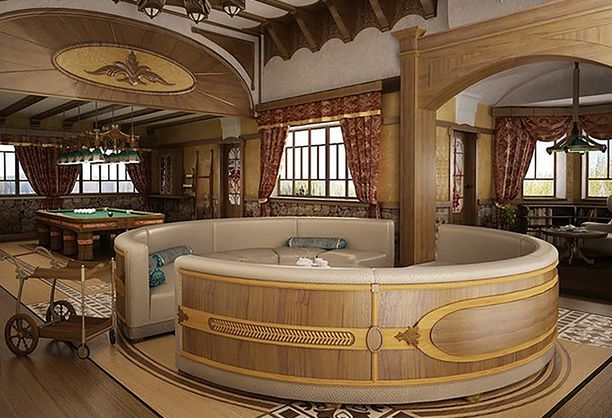 Villa Sellgrenissä on nykyään Putinin käyttöön myös biljardihuone.