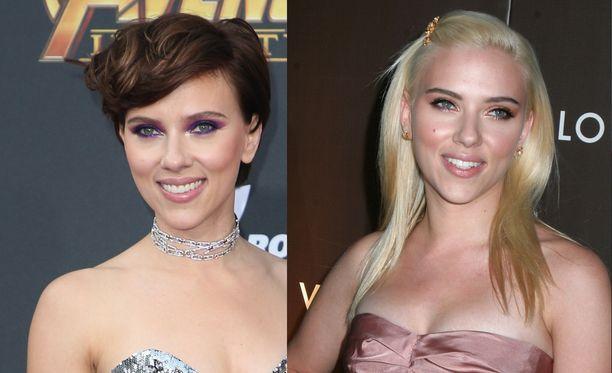 Scarlett Johansson on tehnyt räväkän muodonmuutoksen blondista bruneteksi.
