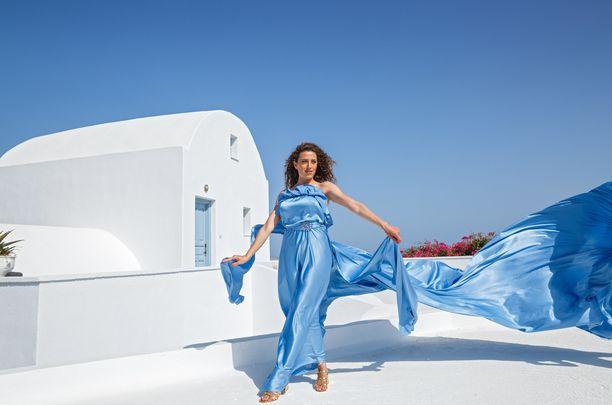 Santorinilla voi otattaa itsestään näin upeita kuvia.