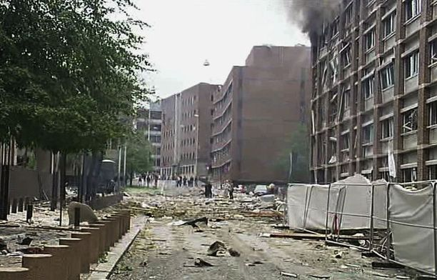 Räjähdys teki pahaa tuhoa.
