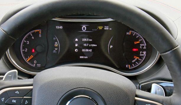 Modernin auton mittaritaulu on vain näyttö.