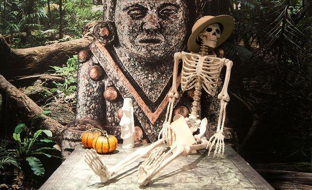 Mayan aarre -pelin rekvisiitta on kiinnostavaa, ja lavastetia on etsitty monista lähteistä.