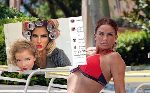 Katie Price meikkasi 6-vuotiaan tyttärensä – fanit raivostuivat