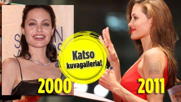 Angelina on kuihtunut silmissä.