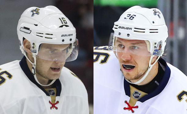 Aleksander Barkov ja Jussi Jokinen johdattivat joukkueensa voittoon.