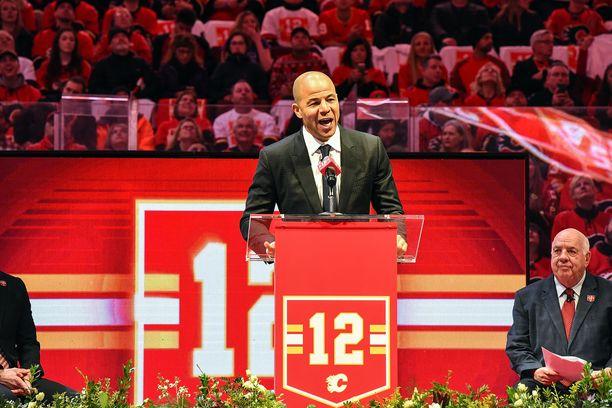 Calgary Flames jäädytti Jarome Iginlan pelinumeron vuonna 2019.