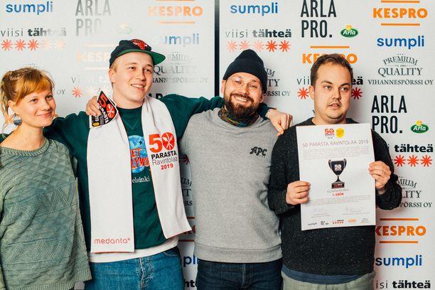 Grön voitti Suomen parhaan ravintolan tittelin toisen kerran peräkkäin.
