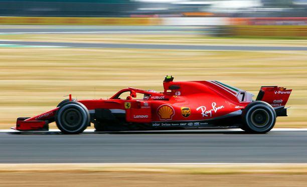 Kimi Räikkönen oli lupaavassa vauhdissa.