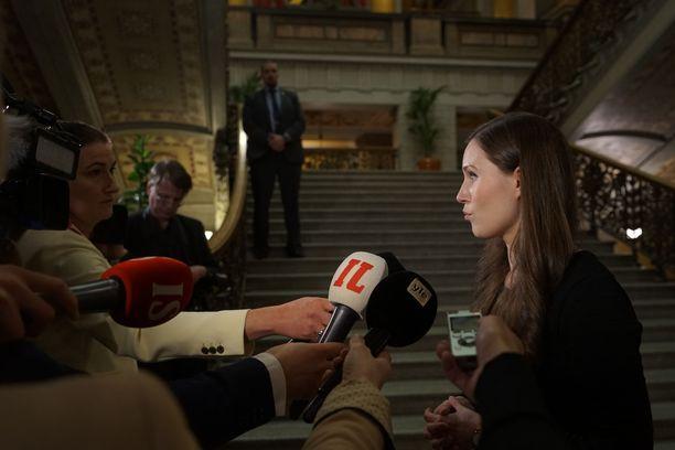 Pääministeri Sanna Marin jakoi sunnuntaina ajatuksiaan Twitterissä. Arkistokuva.