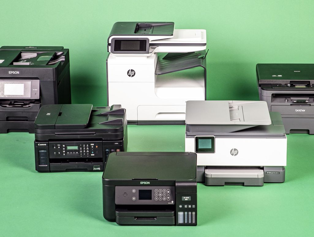 Testissää mukana oli 6 tulostinta.