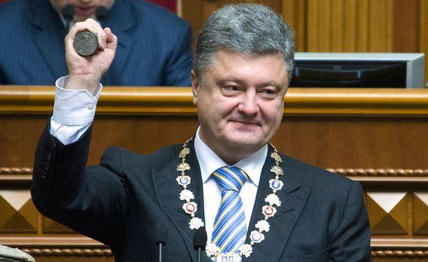 Presidentti Petro Poroshenkon tärkein tavoite on rauha.