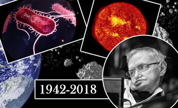 Fyysikko Stephen Hawking muistetaan tieteellisistä saavutuksistaan, mutta myös maailmanlopputeorioistaan ja varoituksistaan ihmiskunnalle.