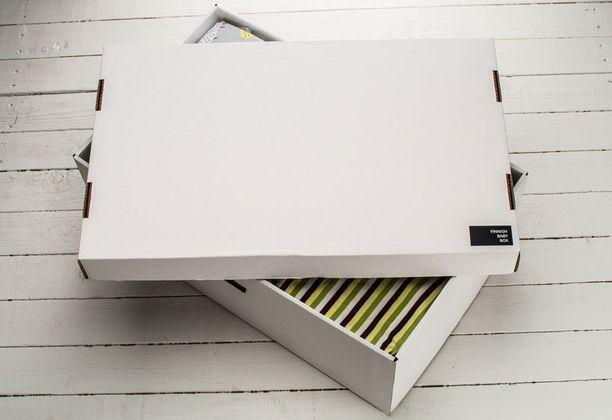 Myös Baby Boxien laatikkoa on käytetty vauvansänkynä, kerrotaan yrityksen verkkosivuille lähetyssä palautteessa.