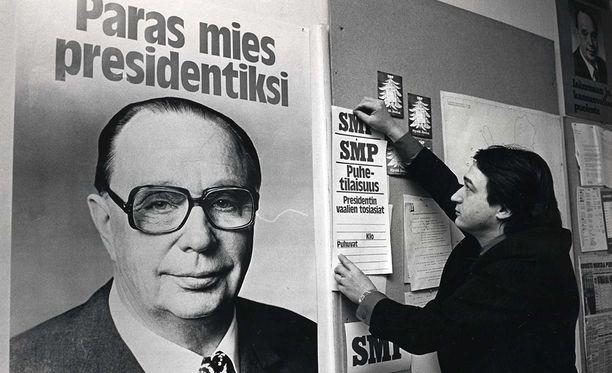 Veikko Vennamo oli SMP:n ehdokkaana vuosien 1968, 1978 ja 1982 presidentinvaaleissa.